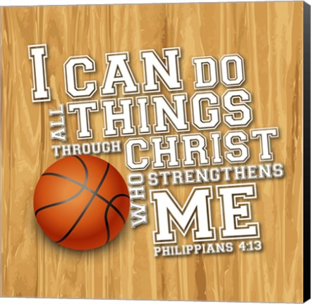 Framed I Can Do All Sports - Basketball Print