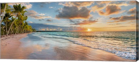 Framed Beach in Maui, Hawaii, at sunset Print