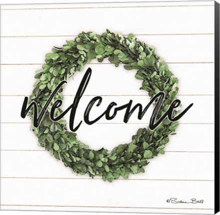 Framed Welcome Wreath Print