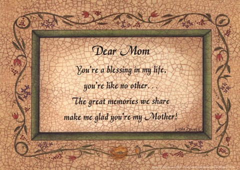 Framed Dear Mom Print