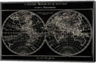 Map of the World Black Fine-Art Print