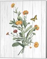Botanical Bouquet on Wood IV Fine-Art Print