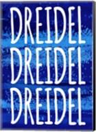 Dreidel Blue Chant Fine-Art Print