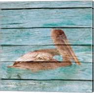 Wood Pelican II Fine-Art Print