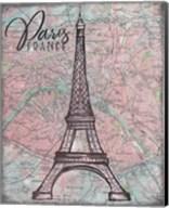 Map of Paris Fine-Art Print