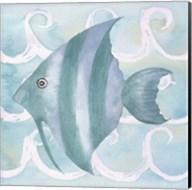 Azure Sea Creatures IV Fine-Art Print