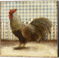 Rooster on Damask II Fine-Art Print