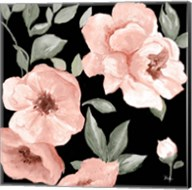 Dusty Rose on Black I Fine-Art Print