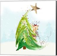Whimsical Tree and Reindeer Fine-Art Print
