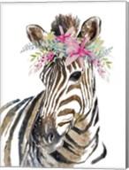 Whimsical Water Zebra Fine-Art Print