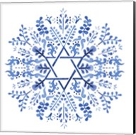 Indigo Hanukkah I Fine-Art Print