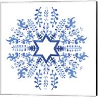 Indigo Hanukkah II Fine-Art Print
