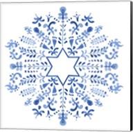 Indigo Hanukkah III Fine-Art Print