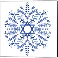 Indigo Hanukkah IV Fine-Art Print