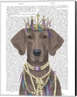 Weimaraner with Tiara Fine-Art Print