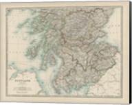 Map of Scotland Fine-Art Print