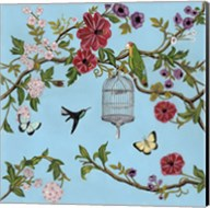 Bird Song Chinoiserie I Fine-Art Print