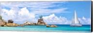 Sailboat at La Digue, Seychelles Fine-Art Print
