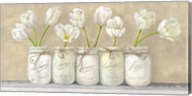 White Tulips in Mason Jars Fine-Art Print