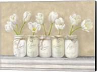 White Tulips in Mason Jars Fine-Art Print
