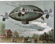 Aerostat Engraving In 'The Illustration', 1887 Fine-Art Print