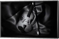 Still-Life Black And White Image Of A Violin Fine-Art Print