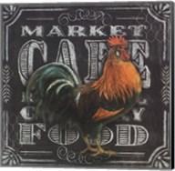Chalkboard Rooster Cafe Fine-Art Print
