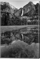 Reflective Pool In Upper Yosemite Falls (BW) Fine-Art Print
