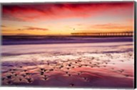 Sunset Over Ventura Pier From San Buenaventura State Beach Fine-Art Print