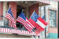 River Street Flags, Savannah, Georgia Fine-Art Print