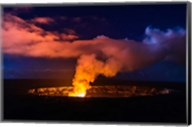 Lava Steam Vent Glowing At Night In The Halemaumau Crater, Hawaii Fine-Art Print
