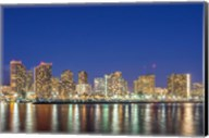 Waikiki Skyline At Night, Honolulu, Hawaii Fine-Art Print