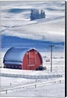 Snow-Covered Barn, Idaho Fine-Art Print