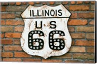 Dirty Illinois Route 66 Sign Fine-Art Print