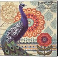 Vintage Peacock I Fine-Art Print
