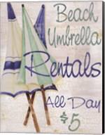 Beach Umbrellas Fine-Art Print