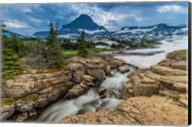 Snowmelt Stream In Glacier National Park, Montana Fine-Art Print