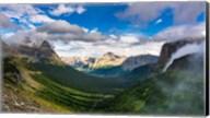 Panorama Of Logan Pass, Glacier National Park, Montana Fine-Art Print