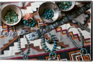 Display Of Turquoise Accessories, Santa Fe, New Mexico Fine-Art Print