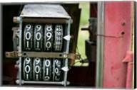 Antique Gas Pump Counting Machine, Tucumcari, New Mexico Fine-Art Print