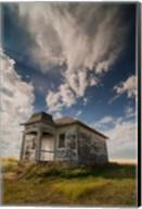 Abandoned Township Hall On The North Dakota Prairie Fine-Art Print