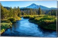 Mt Bachelor And The Deschutes River, Oregon Fine-Art Print