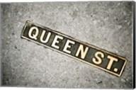 Queen St Sign, Charleston, South Carolina Fine-Art Print