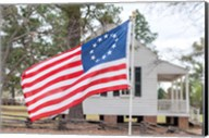 Betsy Ross Flag At The Craven House In Historic Camden, South Carolina Fine-Art Print