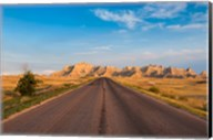 Road Through The Badlands National Park, South Dakota Fine-Art Print