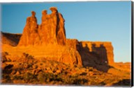 The Three Gossips Formation At Sunrise, Arches National Park Fine-Art Print