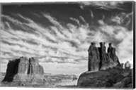 Three Gossips, Arches National Park, Utah (BW) Fine-Art Print