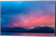 Lightning Over Hood Canal And The Olympic Mountains Fine-Art Print