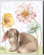 Spring Softies Bunnies III Purple Fine-Art Print