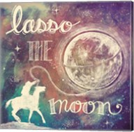 Universe Galaxy Lasso the Moon Fine-Art Print